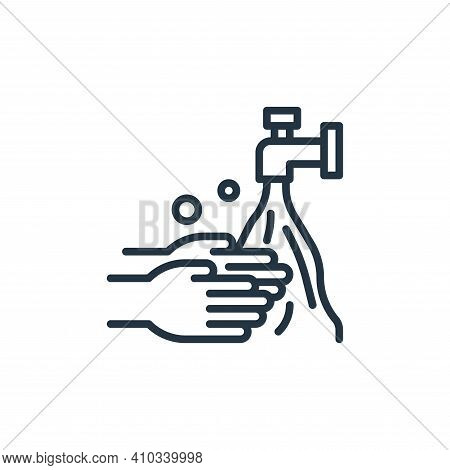 hand wash icon isolated on white background from coronavirus collection. hand wash icon thin line ou