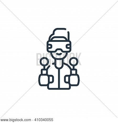 gamer icon isolated on white background from videogame collection. gamer icon thin line outline line