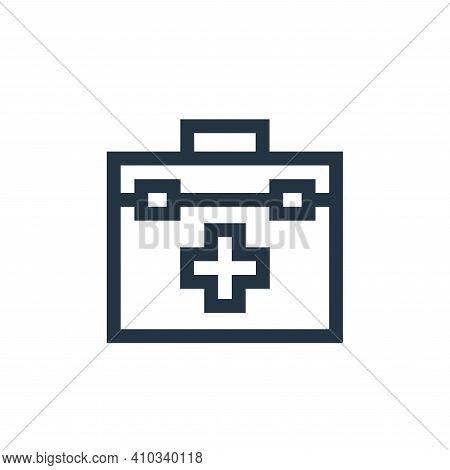 first aid kit icon isolated on white background from charity collection. first aid kit icon thin lin