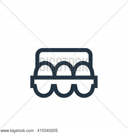 eggs icon isolated on white background from nutrition collection. eggs icon thin line outline linear