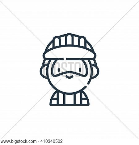 builder icon isolated on white background from labour day collection. builder icon thin line outline