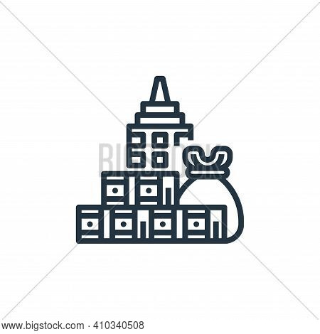 budget icon isolated on white background from branding collection. budget icon thin line outline lin