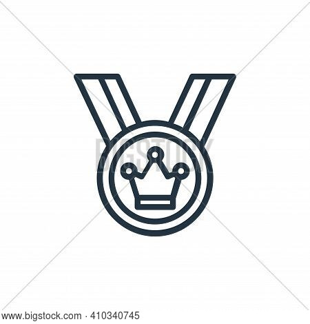 winner icon isolated on white background from chess game collection. winner icon thin line outline l