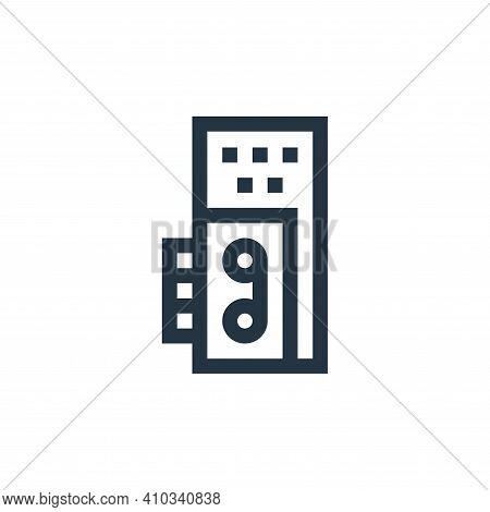 voice recorder icon isolated on white background from news collection. voice recorder icon thin line