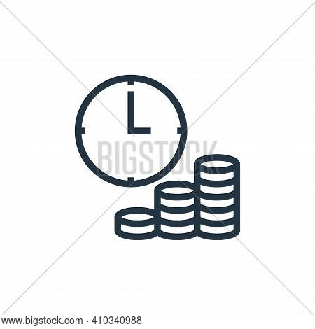 time is money icon isolated on white background from finance collection. time is money icon thin lin
