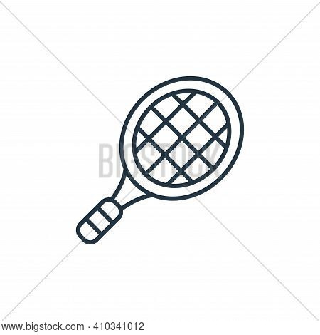 tennis racket icon isolated on white background from retirement collection. tennis racket icon thin