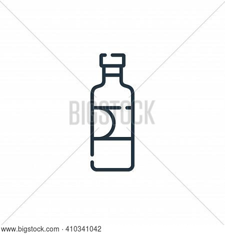 syrup icon isolated on white background from vegan food collection. syrup icon thin line outline lin