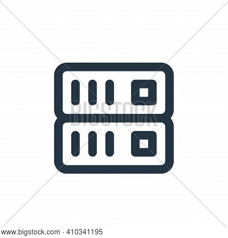 server icon isolated on white background from user interface collection. server icon thin line outli