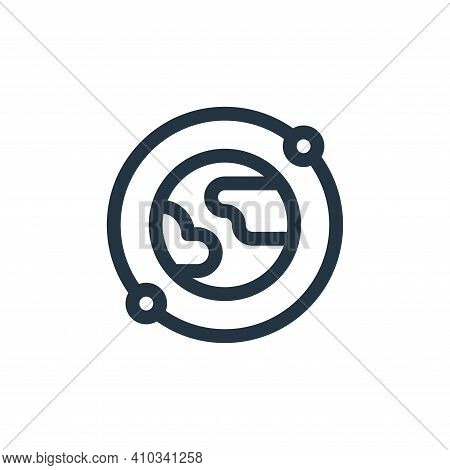 satellite icon isolated on white background from internet of things collection. satellite icon thin