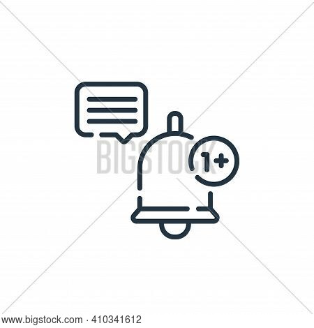 notification icon isolated on white background from social media collection. notification icon thin