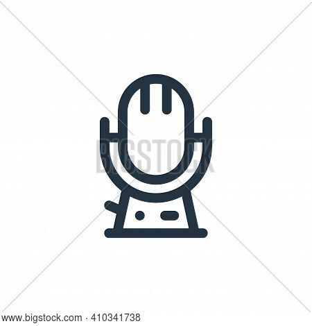 microphone icon isolated on white background from music collection. microphone icon thin line outlin