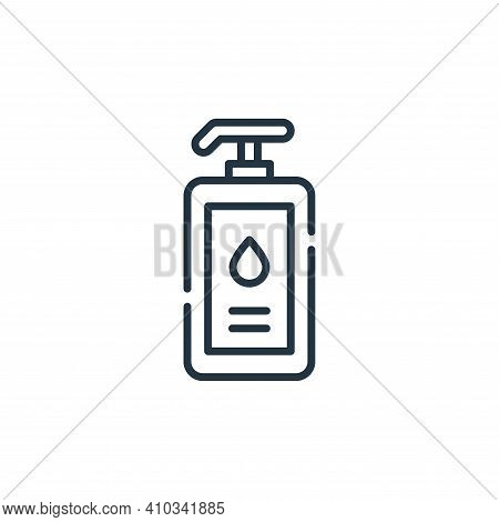 liquid soap icon isolated on white background from cleaning collection. liquid soap icon thin line o