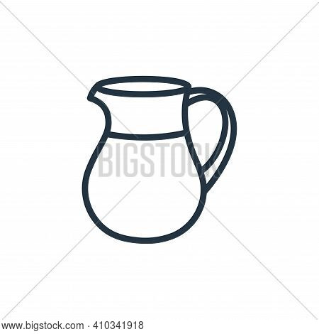 jug icon isolated on white background from food collection. jug icon thin line outline linear jug sy