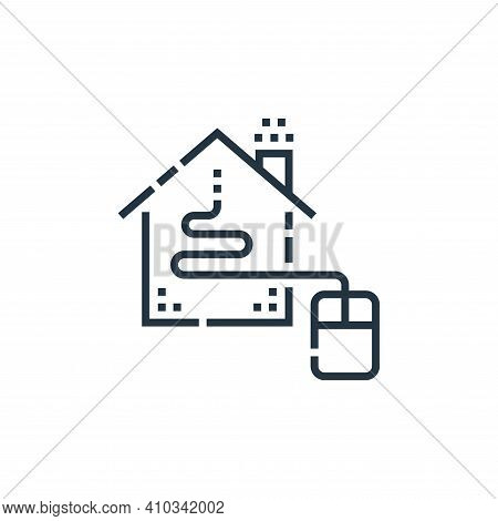 home control icon isolated on white background from smarthome collection. home control icon thin lin