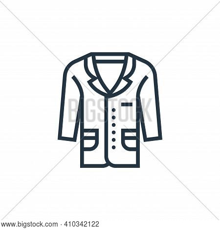 garment icon isolated on white background from sewing equipment collection. garment icon thin line o