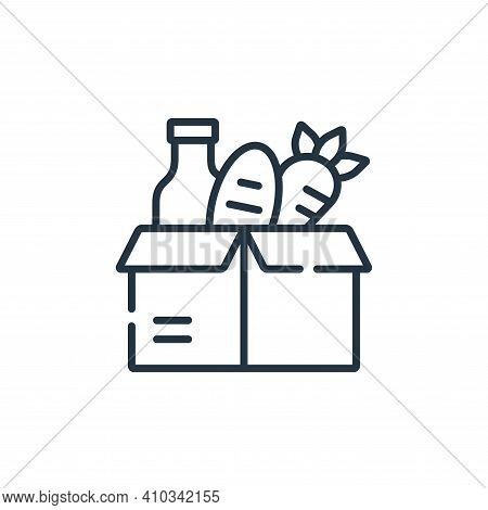food donation icon isolated on white background from kindness collection. food donation icon thin li