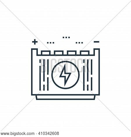 battery icon isolated on white background from technology devices collection. battery icon thin line