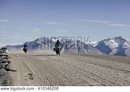 Dalton Highway The James Dalton Highway is 414 miles of gravel road. It travels from Good to Elliott
