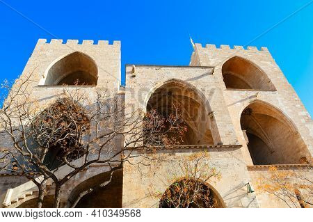 Torres De Serranos In Valencia Spain . Gothic Style Towers, Part Of The Old City Walls