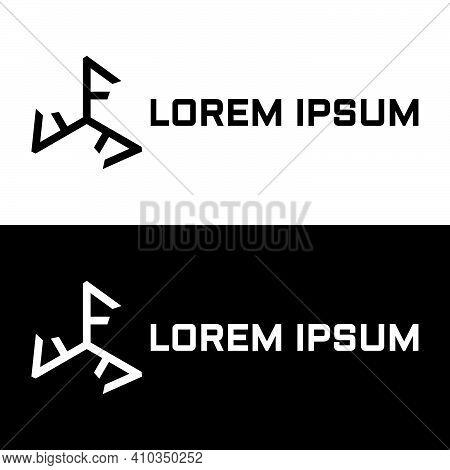 Creative, Simple And Elegant Initial Letter Triple F Triskelion Logo Template In Flat Design Monogra