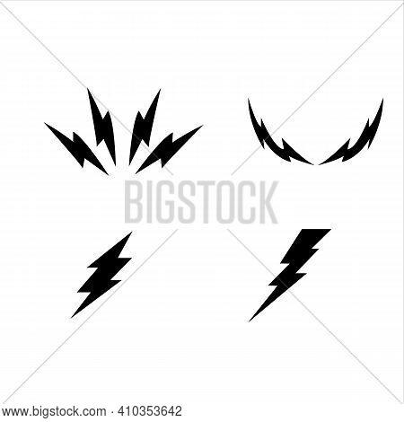 Lightning Bolt Vector Icon. Flash Icon. Bolt Of Lightning Vector. Streak Of Light Sign. Electric Bol