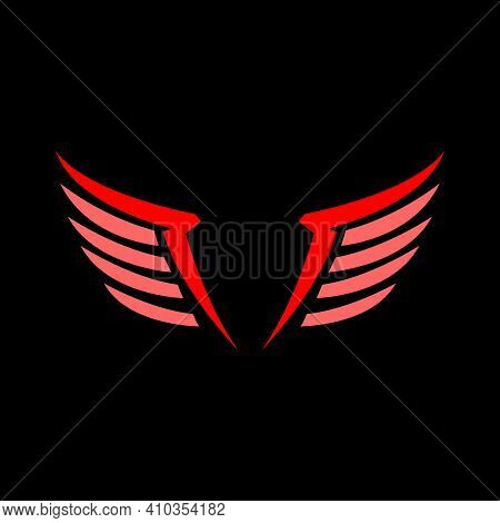 Vector Wings Logo, Wing Logo Company, Icon Wing Flying, Eagle Wing Brand And Logotype Wing Bird Illu