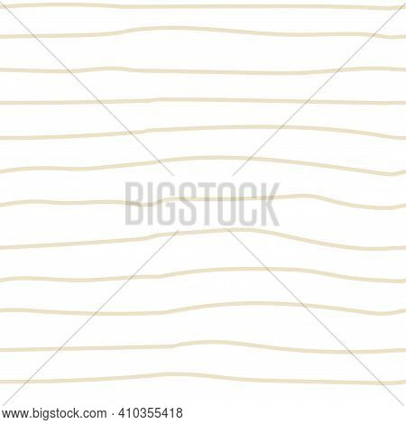 Doodle Striped Seamless Pattern. Hand Drawn Beige Lines, Decor Textile, Geometrical Ornament. Abstac
