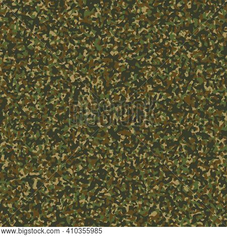 Illustration Camouflage Background with Greens and Browns