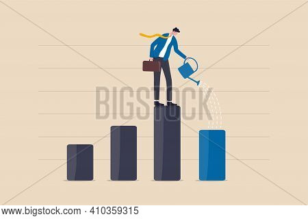 Economic Recover From Money Stimulus, Leadership To Grow Business, Investment Growth Or Profit And E