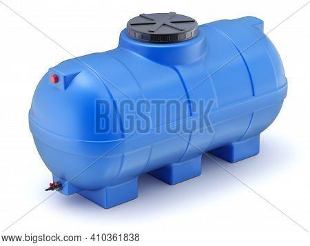 Blue Plastic Water Cistern Pill Form - 3d Illustration