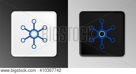 Line Network Icon Isolated On Grey Background. Global Network Connection. Global Technology Or Socia