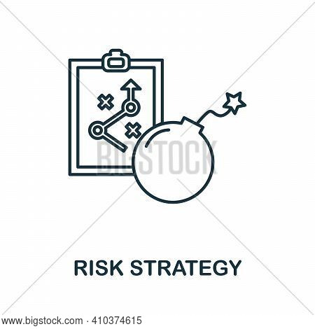 Risk Strategy Icon. Simple Element From Risk Management Collection. Creative Risk Strategy Icon For