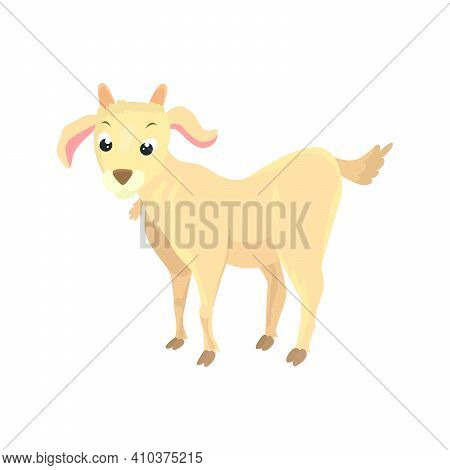 Goat Flat Icon. Colored Vector Element From Animals Collection. Creative Goat Icon For Web Design, T