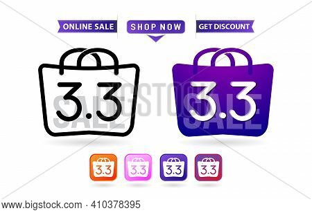 Shopping Bag 3.3 Sale, Handbag 3.3 Woman Of Months Sale, Labels And Tag Icons Shopping Bag And Handb