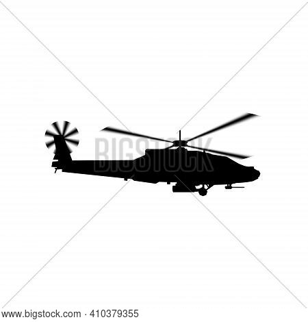Realistic Vector Icon Military Attack Helicopter Military Air Forces Of The United States. Apache. S