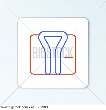 Line Bathrobe Icon Isolated On White Background. Colorful Outline Concept. Vector