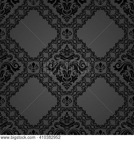 Orient Classic Pattern. Seamless Abstract Dark Background With Vintage Elements. Orient Background.