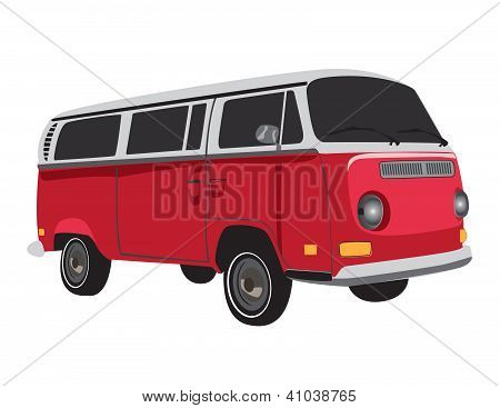 Vintage Bus vector
