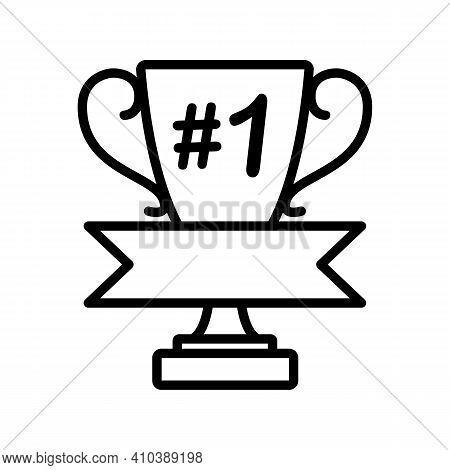Vector Illustration Of Trophy Cup Monogram For Text Isolated On White Background. Champion Trophy, S