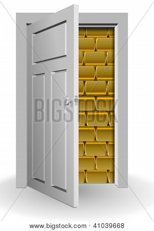 Gold Behind Door