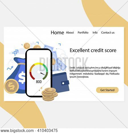 Urgent Micro Loans And Cash Loan In Application Landing Page. Vector Illustration Application Loan B