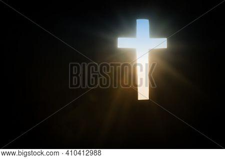 Rays Of Sun Through The Cross Bringing Hope