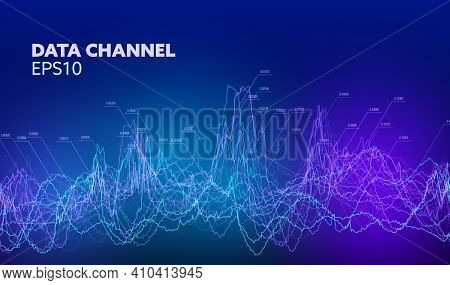 Data Channel Vector Background. Financial Vector Background. Finance Data Chart. Economy Graph