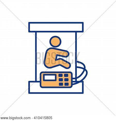 Uterus-like Environment Rgb Color Icon. Fetus Development. Artificial Placenta Reproducing. Gestatio