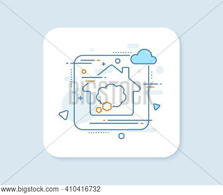 Talk Bubble Line Icon. Abstract Vector Button. Speech Bubble Sign. Chat Message Symbol. Talk Bubble