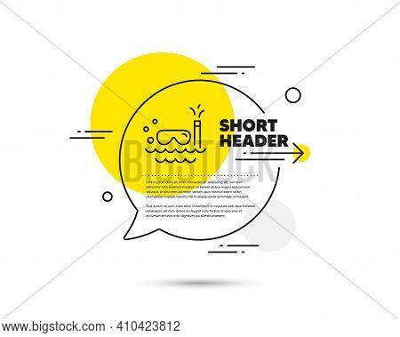 Travel Scuba Diving Line Icon. Speech Bubble Vector Concept. Trip Swimming Sign. Holidays Symbol. Sc