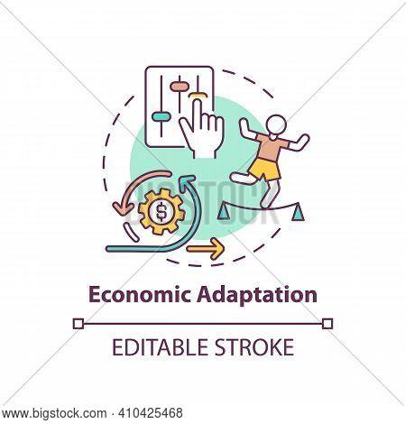 Economic Adaptation Concept Icon. Changes In Behavior In Economic Environment Idea Thin Line Illustr