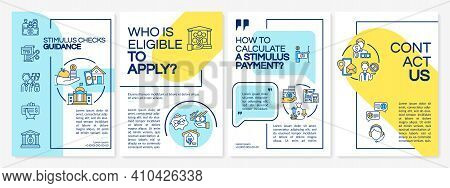 Stimulus Checks Guidance Brochure Template. Calculate Stimulus Payment. Flyer, Booklet, Leaflet Prin