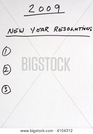 2009 Resolutions List
