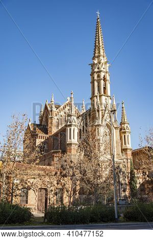 Church Of St.francis De Sales Built: 1882-1885 . In The City Of Barcelona. Spain.